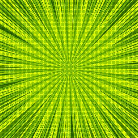 Abstract green explosion and burst background Stock Illustratie