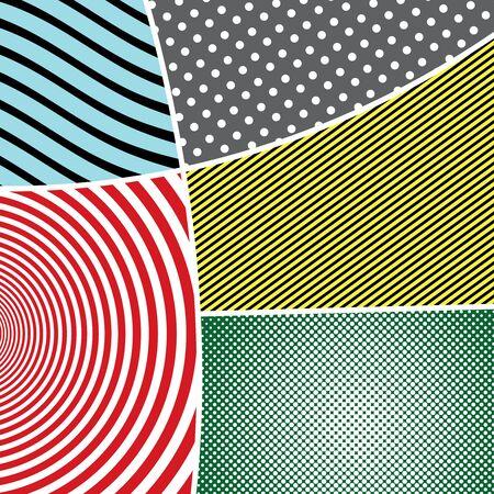 Pop art elegant colorful composition Stock Illustratie
