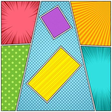 Comic colorful composition Stock Illustratie