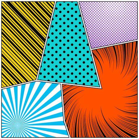 Pop art style colorful composition