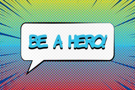 Comic motivating bright concept
