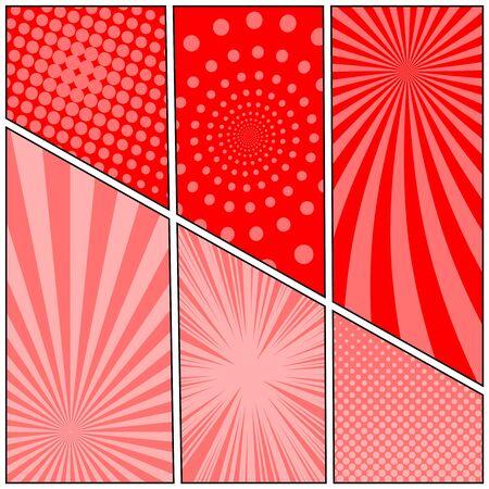 Comic red stylish concept Stock Illustratie
