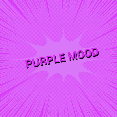 Purple mood comic concept