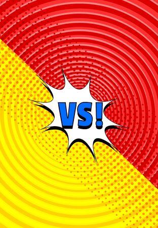 Comic vertical fight template