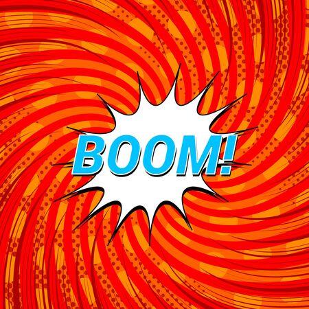 Comic explosive template Stock Illustratie