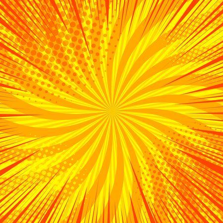 Comic abstract orange background