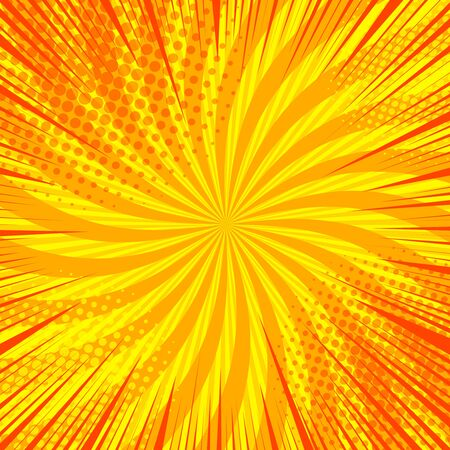 Comic abstract orange background