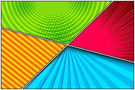 Comic colorful elegant composition