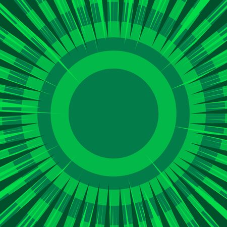 Comic abstract green concept