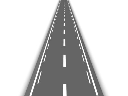 Perspective straight road template