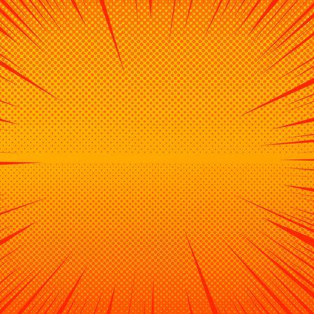 Comic orange explosive background Illusztráció