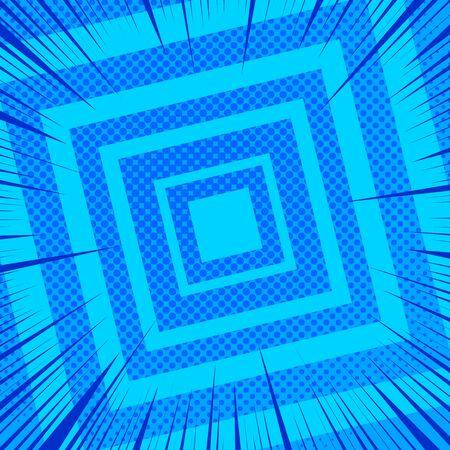 Comic blue geometric background