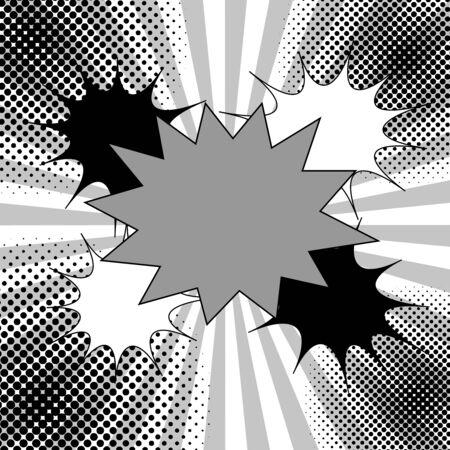 Comic monochrome elegant concept