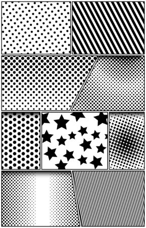 Comic scenes vertical composition Illusztráció