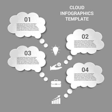 Cloud business infographics Illusztráció