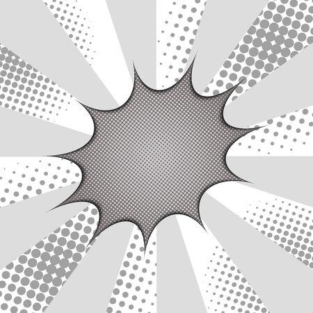 Comic monochrome explosive concept