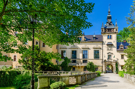 Kliczkow, Lower Silesia province, Poland - June 10, 2016: Hotel and conference center located in 17th century, renaissance castle.