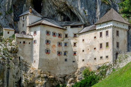 Postojna, Notranjska, Slovenia - August 22, 2017: Predjama castle nearby Postojna.