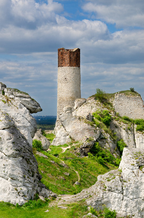 Ruins of castle Olsztyn, part of Trail of the Eagles Nests medieval defence system, Polish Jurassic Highland, Lesser Poland voivodeship, Europe