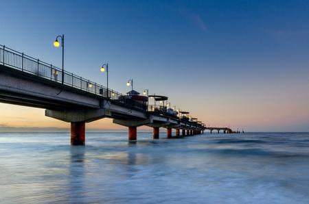 Baltic seashore in Miedzyzdroje (ger.: Misdroy), West Pomeranian province, Poland.