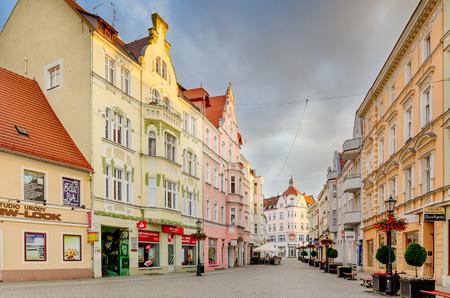 Zielona Gora (ger. Gunberg in Schlesien), Lubusz province, Poland - May 28, 2016. Old town district.