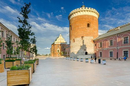 Lublin, Lublin province, Poland - July 8, 2017. Royal castle, 12th - 19th century, romanesque keep (13th century).