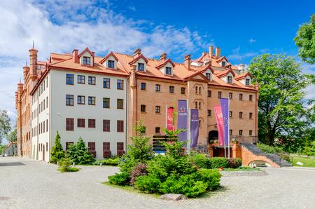 Ryn (ger. Rhein), Warmian-masurian province - July 12, 2015. Castle of the Teutonic Knights.
