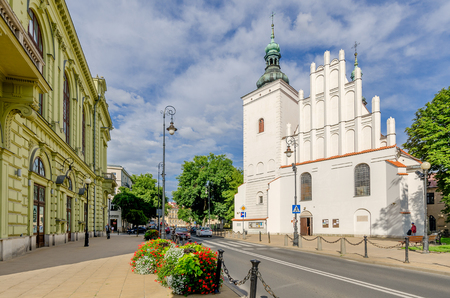 Lublin, Lublin province, Poland - July 8, 2017. Church of Our Lady of Victory , 15th century. 新聞圖片