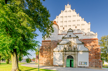 Wagrowiec (ger. Wongrowitz), Greater Poland province, Poland - July 7, 2017. Parish Church St. James the Apostle.