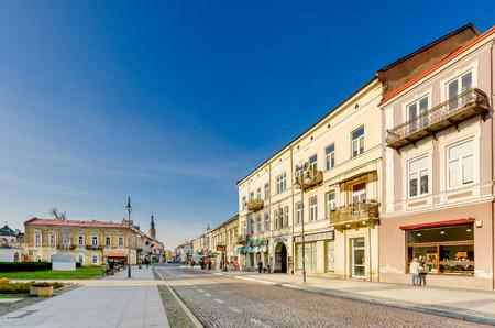 Radom, Masovia province, Poland - September 12, 2016. Stefana Zeromskiego street, Radom, Masovian voivodeship, central Poland, Europe