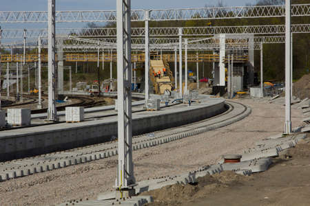 Construction and renovation of a railway station in Krakow.