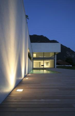 paredes exteriores: casa moderna