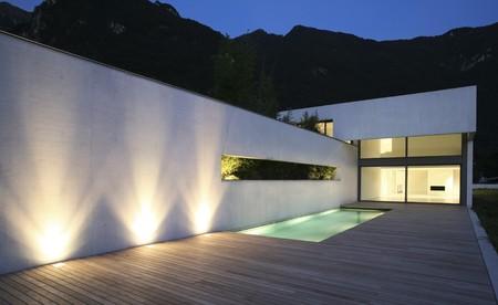 light  house: modern house Stock Photo