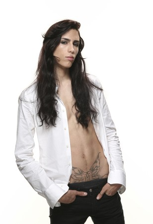 eccentric: androgynous men Stock Photo