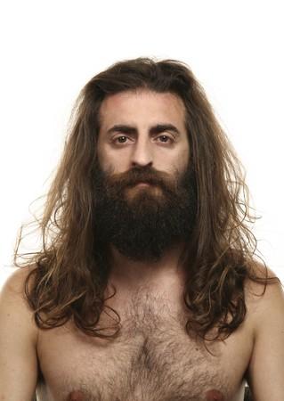 mann mit langen haaren: Portr�t des Menschen