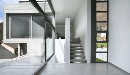 terrace house: modern house Stock Photo
