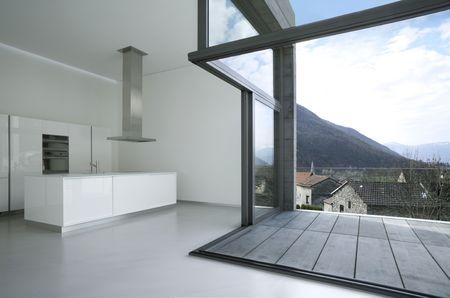 terrace: modern house Stock Photo