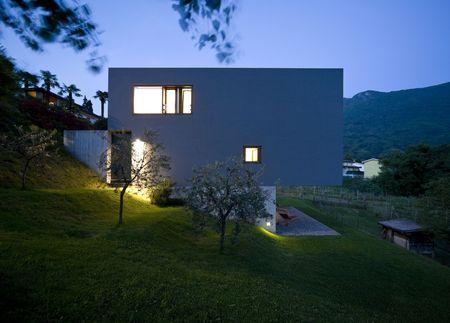 blue facades sky: modern house Stock Photo