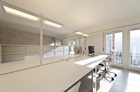 modern office interior design, white furnishings Stock Photo - 13036689