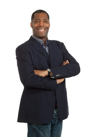 african man on white background photo