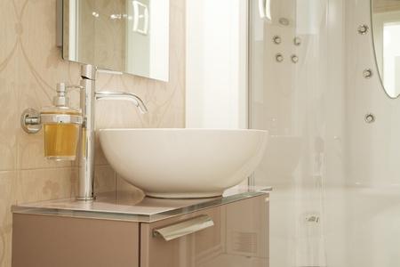 cabine de douche: évier détail moderne