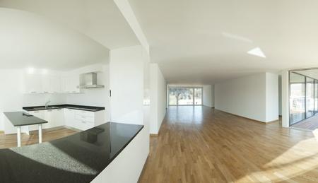 panoramic windows: big modern loft or modern apartment