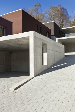 concrete blocks: view of the beautiful modern houses,  outdoor