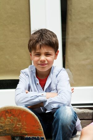 portrait boy in exter Stock Photo - 13753701