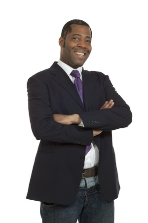 Portrait african man on white background, isoltated Stock Photo - 14918979