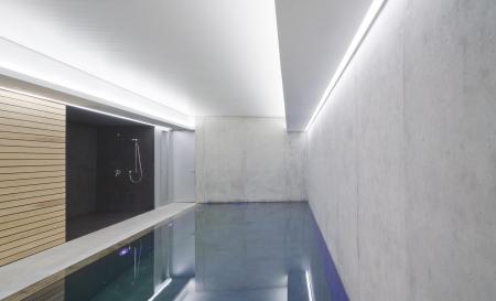zwembad in modern huis