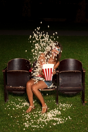 beautiful girl down his popcorn order to expose you scared photo