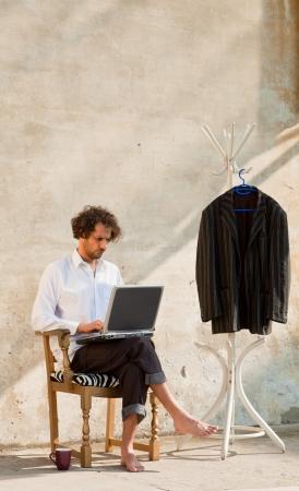 boy working on laptop Stock Photo - 18788910