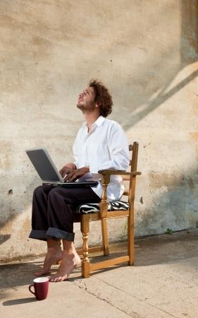 boy working on laptop Stock Photo - 18788921