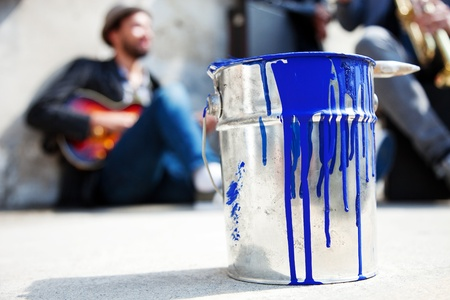 bucket and paint to paint photo